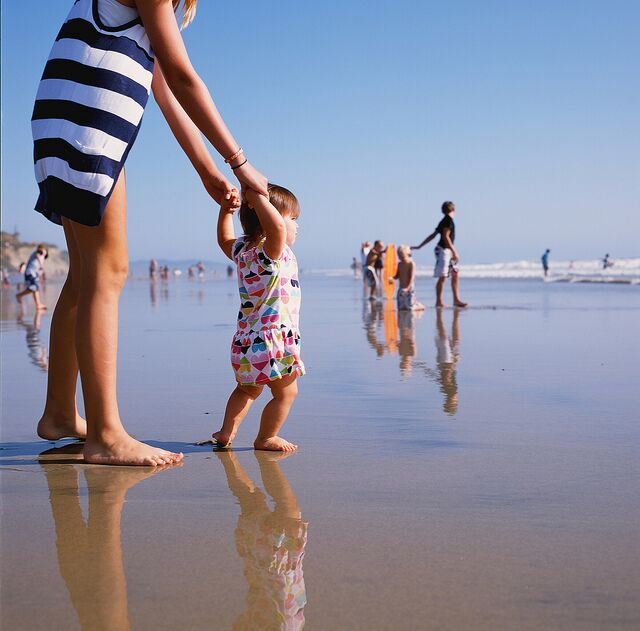 July - Families Flock to the beaches.