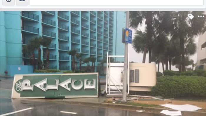 Storm Damage Palace Hotel